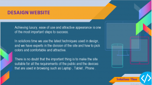 web design solutions time